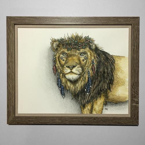 Lion watercolor