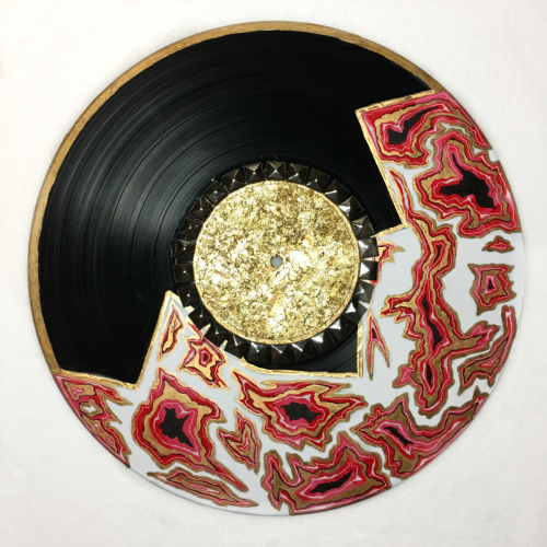 Pink & gold abstract vinyl