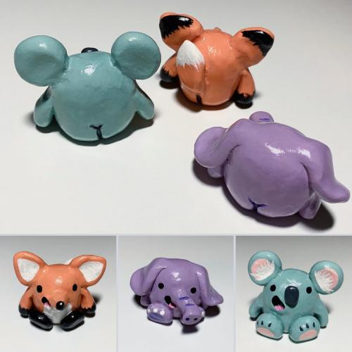 Polymer clay booty animals